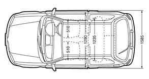 nissan micra k11 top section dimensions