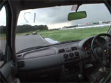 Some guy filmed himself handbraking around a circuit from the inside